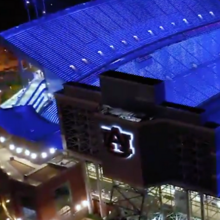 New Jordan-Hare Stadium Lights To Dazzle During Night Games