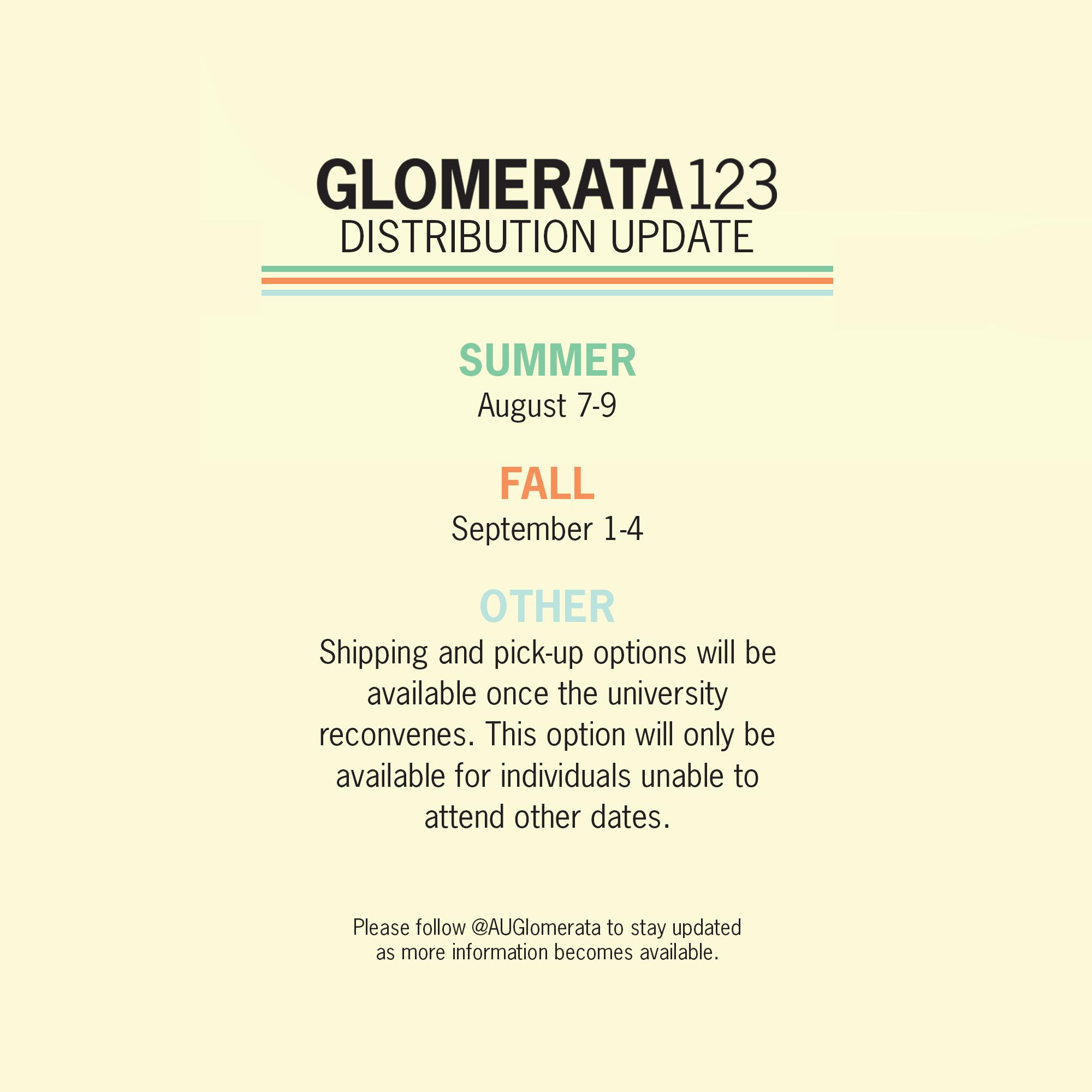 Glomerata123 Distribution Update