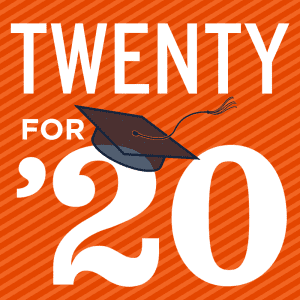 20 for '20 words of encouragement graphic