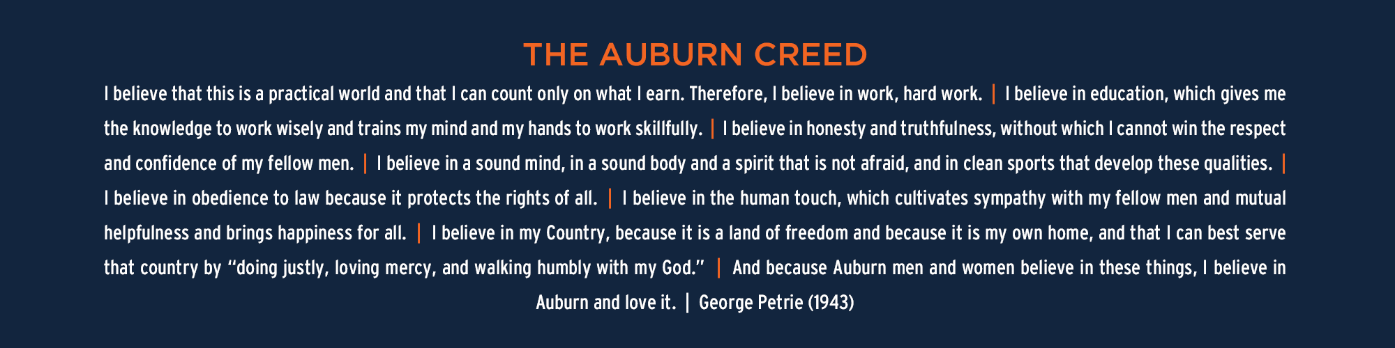 Auburn Creed Graphic