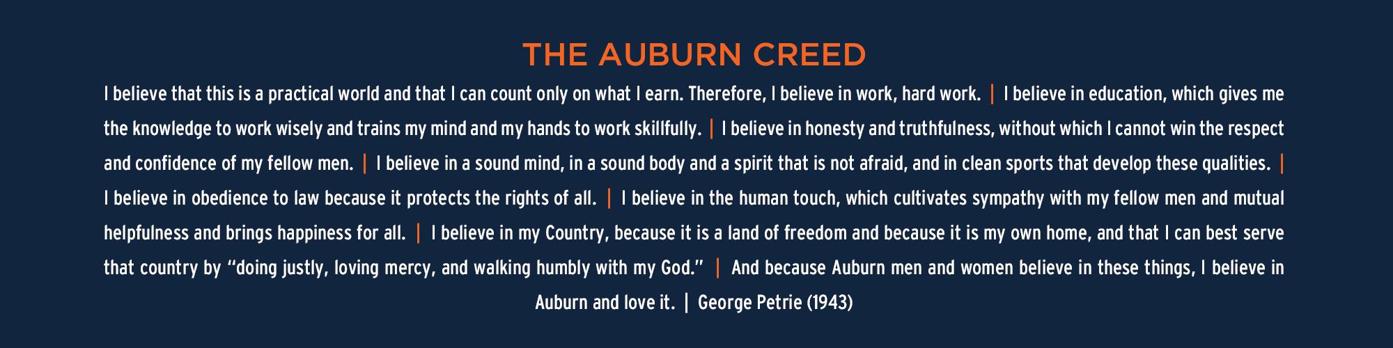 Auburn Creed Graphic