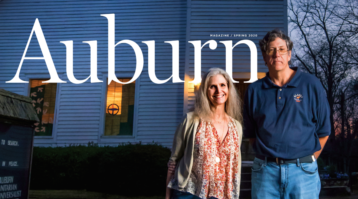 Auburn Magazine Spring 2020 header featuring Katie Lamar Jackson and Bailey Jones
