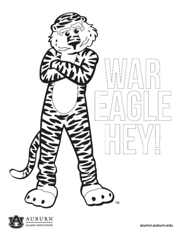 Aubie Standing. War Eagle Hey!