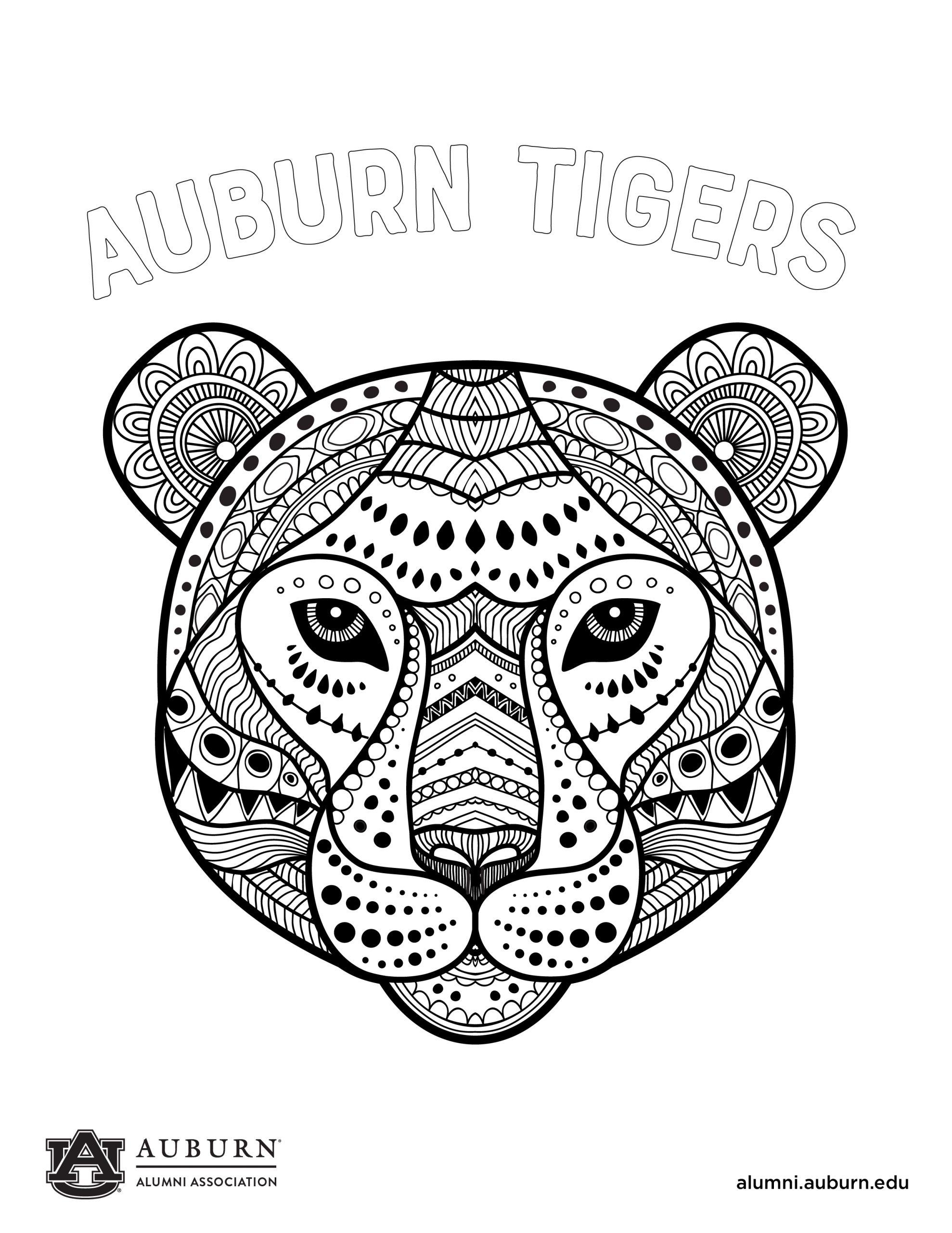 Zen Tiger Coloring sheet
