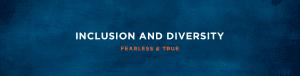 Inclusion & Diversity Webpage header