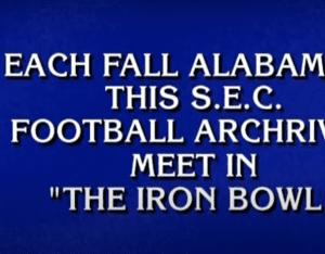 Jeopardy Contestants Fail Iron Bowl Question