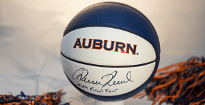 Trivia Prize basketball signed by Coach Pearl