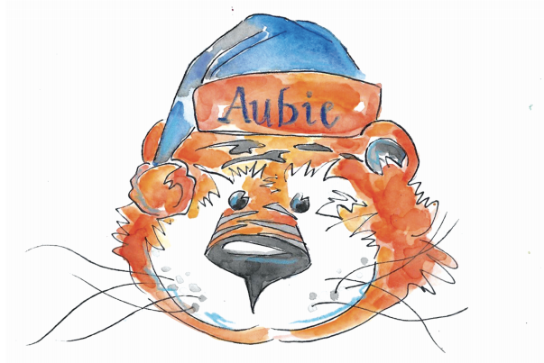 Holiday Guide 2020: Aubie Claus Coloring Sheet