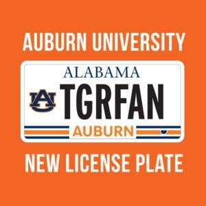 Auburn License Plate