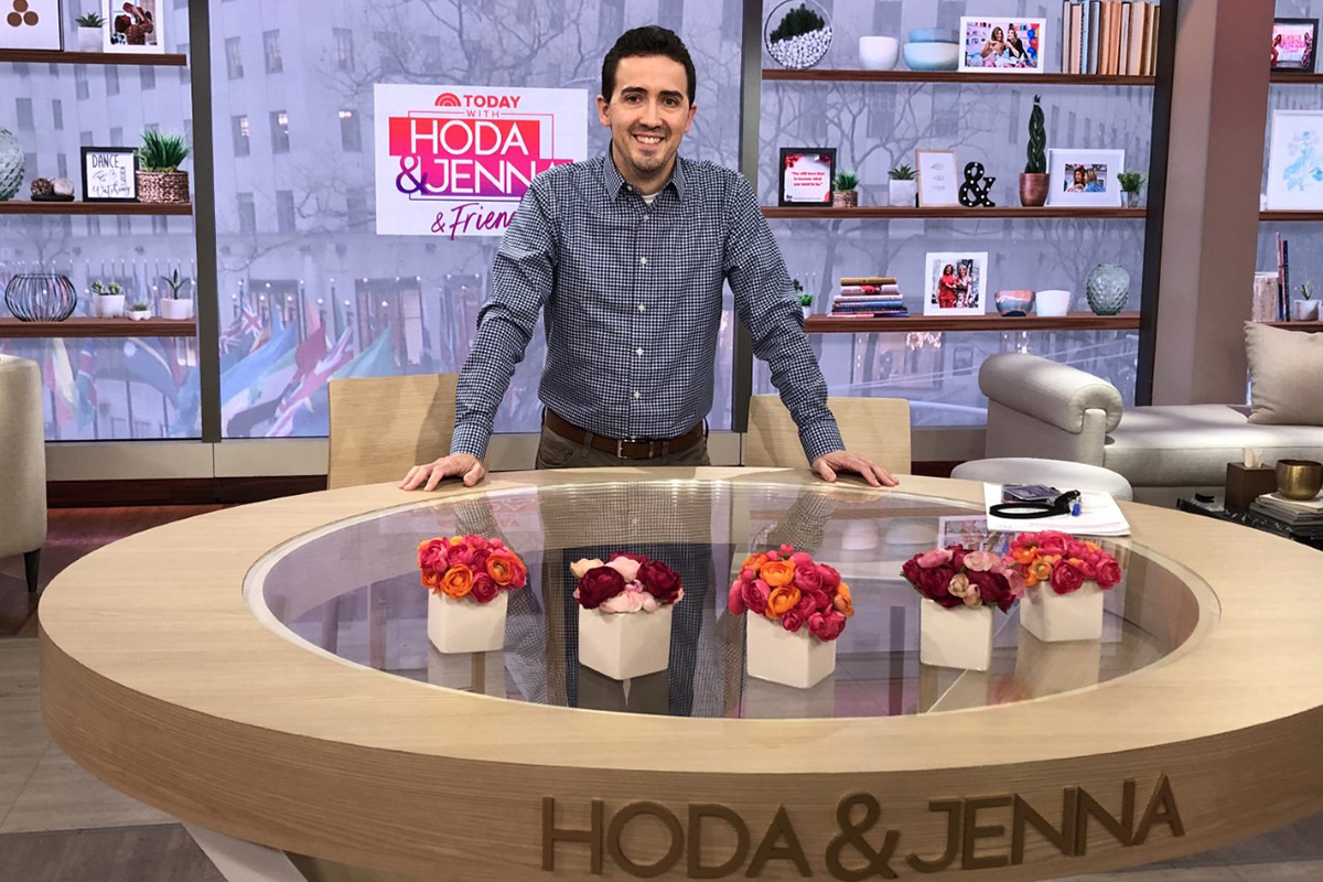 Lee Miller on the set of the TODAY Show