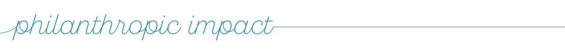 philanthropic Impact graphic header