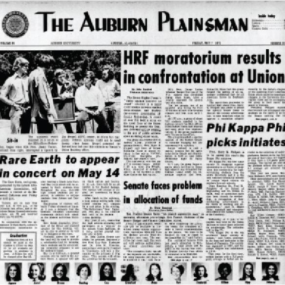 Auburn Plainsman Thursday, May 7, 1970