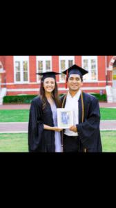 Brannon and his wife Amanda at Auburn graduation