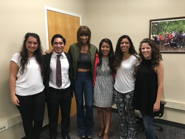 Brannon with the Latino Student Association