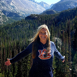 Rachel Anderson in mountains photo