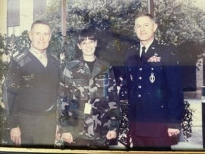 Norajill Winstead '84 with Gen. Carl Mundy 57