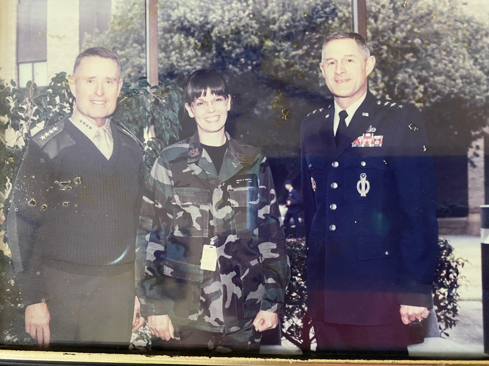 Norajill Winstead '84 with Gen. Carl Mundy 57