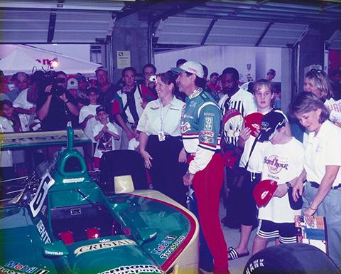 Pit Tour with driver Eliseo Salazar, 1999