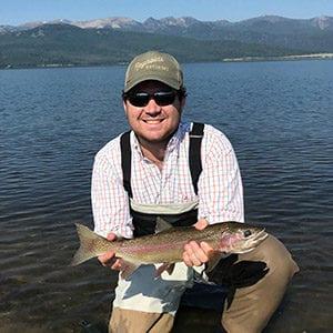 Brock Hendon showing off fish