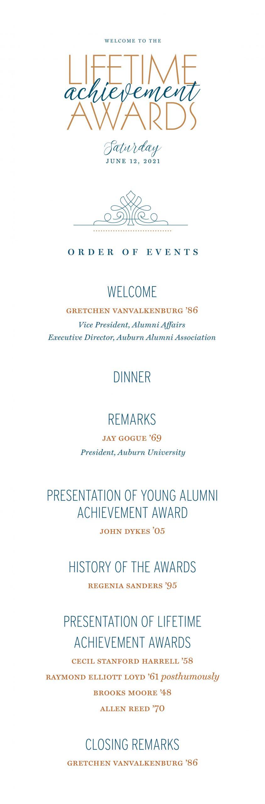 Lifetime Achievement Awards program