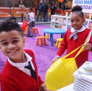 Students from the Promise Academy at a book fair hosted by the TODAY Show