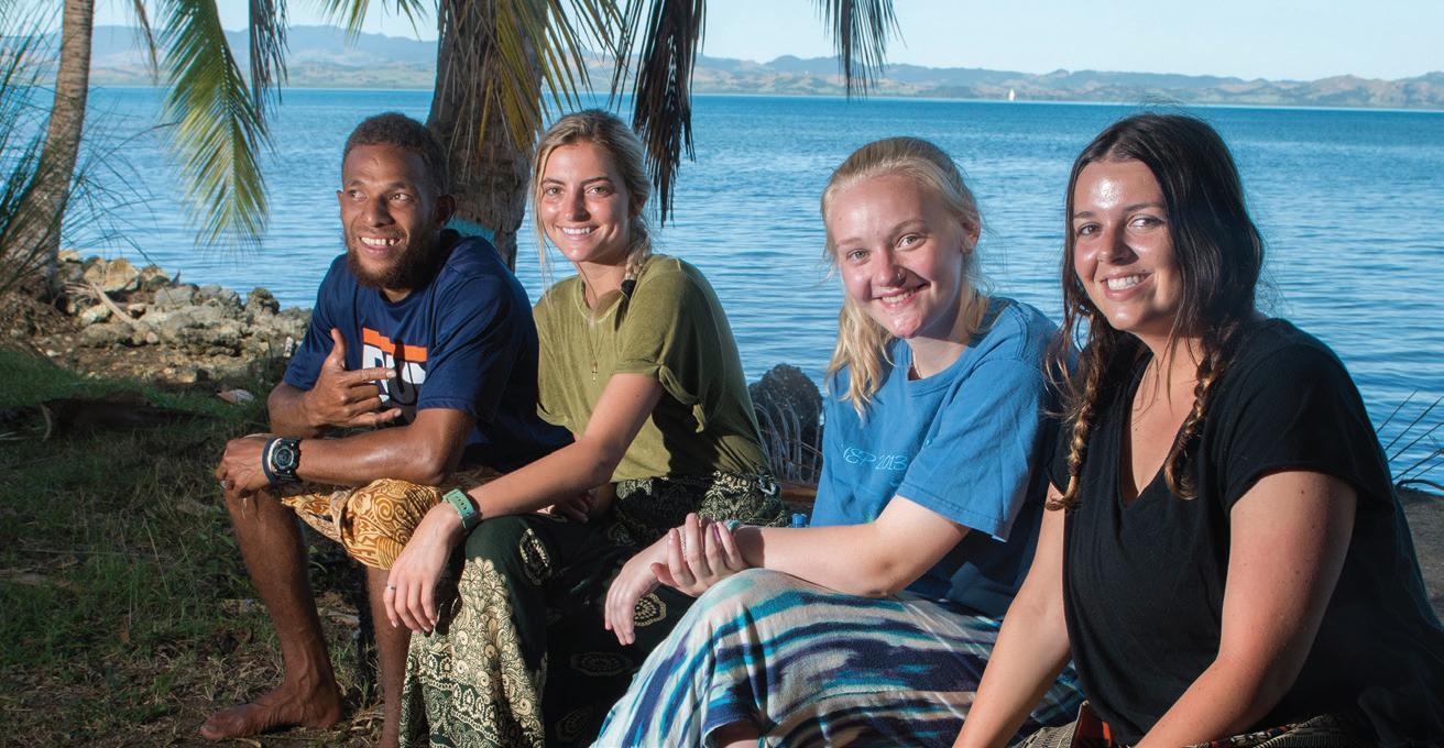 Left to right: Nemani, Laura Vinzant, Sibley Barnette and Haley Turner.