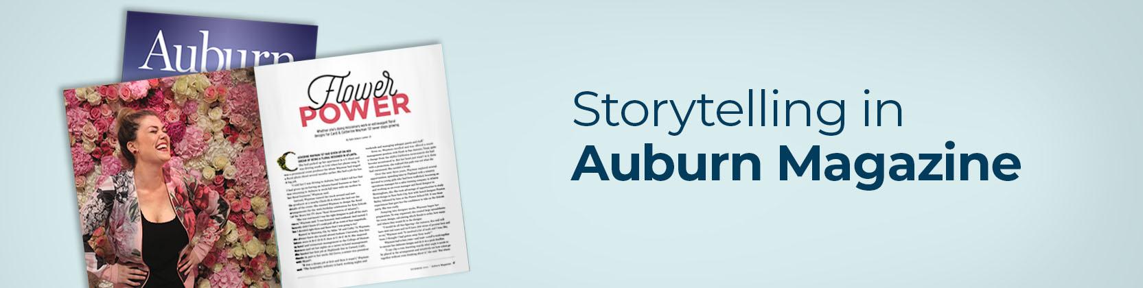 storytelling in auburn magazine