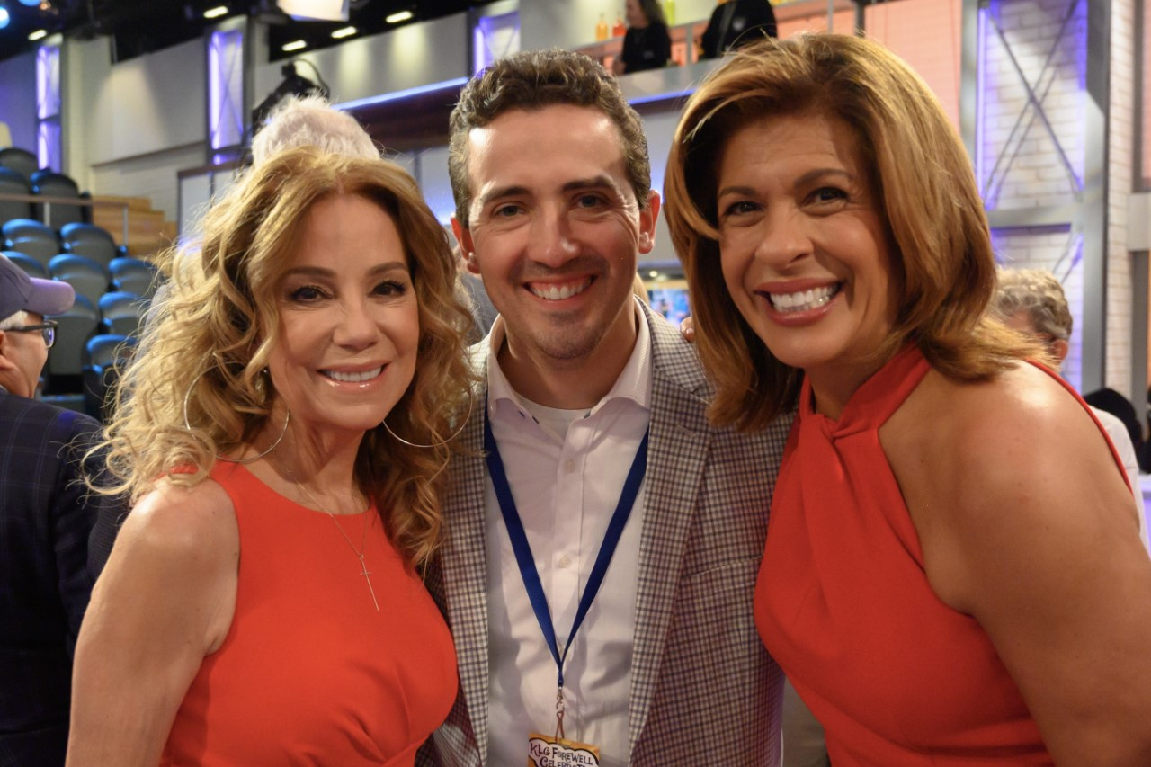 Miller with Hoda Kotb and Kathy Lee Gifford