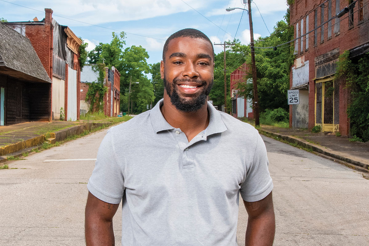 Picture of Messiah Williams-Cole with hands in his pockets