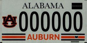 Alabama Auburn Theme License Plate