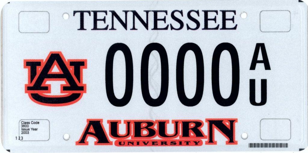 TN AU License Plate