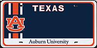 TX AU License Plate