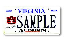 VA AU License Plate