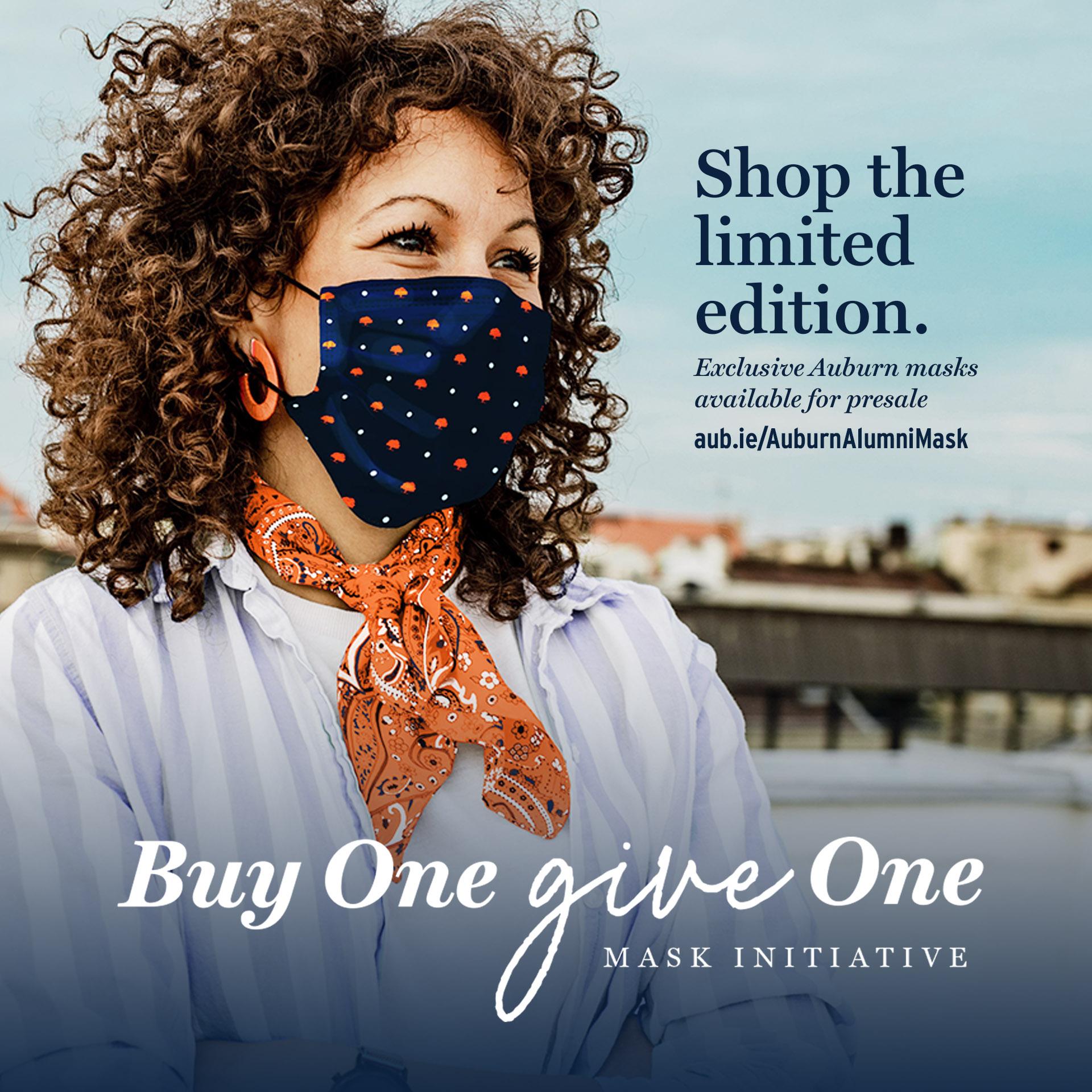 Buy One, Give One Auburn Alumni Mask