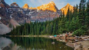 beautiful landscape of Canadian Rockies